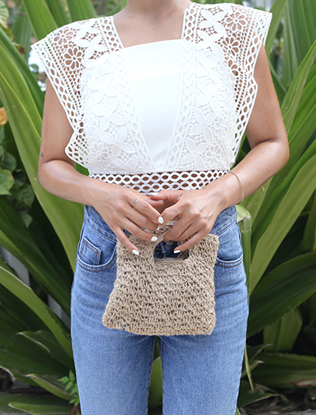 Crocheted Mini Handbag