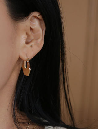 Geometric Latch Lock Earrings