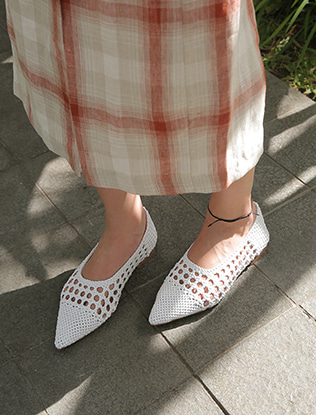 Woven Pointed Flats