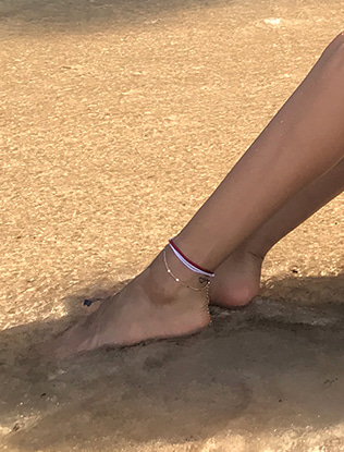 Gold-Tone Bead Chain Anklet