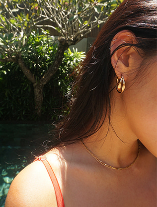 Crossed Rope Hoop Earrings