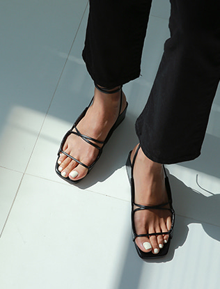 Wraparound Block Heel Sandals