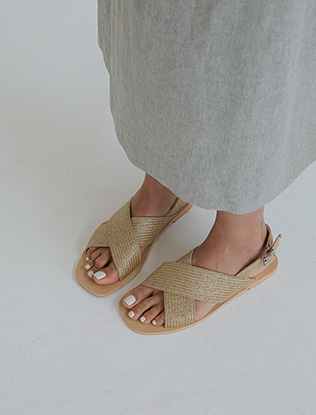 Woven Cross Straps Sandals