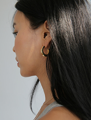 Half Hoop Geometric Earrings