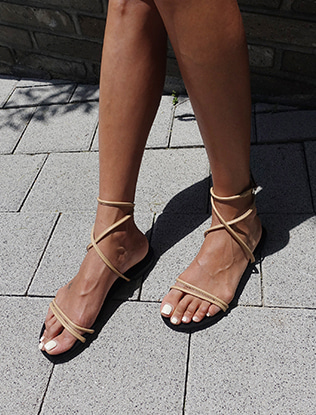Cross Ankle Strap Sandals