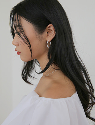 Coated Three Quarter Hoop Earrings