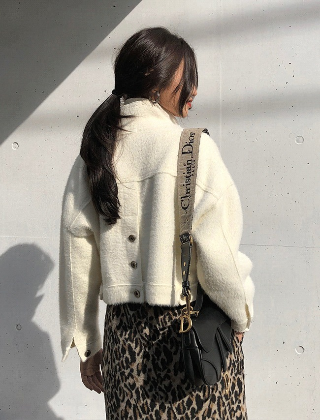 Ivory Back Button Cropped Jacket