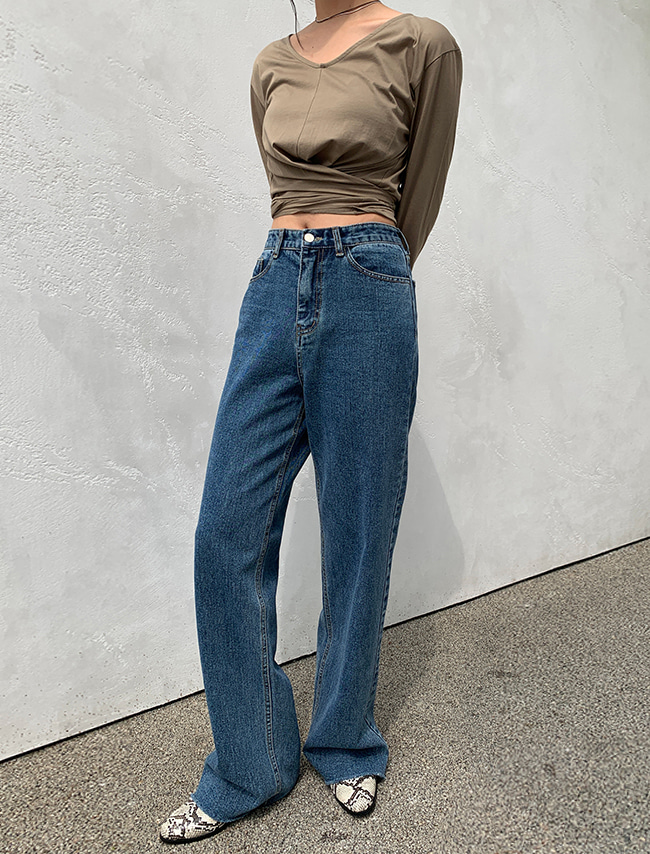 Baggy Straight Cut Jeans