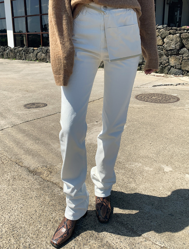 Ivory Straight Cut Jeans