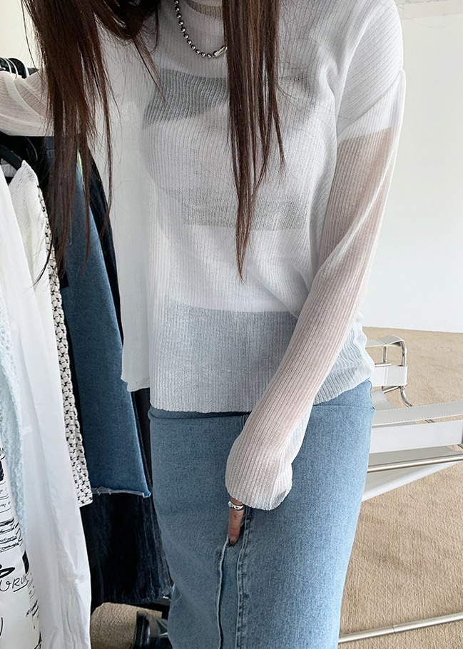 Loose Fit Sheer Knit Top
