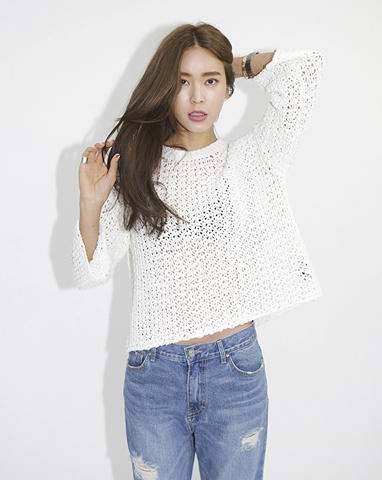 Boxy Lace Knit Pullover