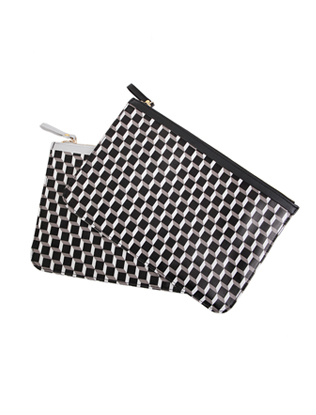 3D Cube Pattern Clutch Bag