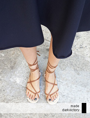 Slim Cross Strap Sandals