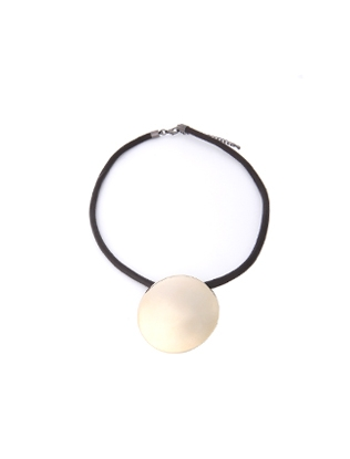 Gold-Tone Circle Pendant Necklace
