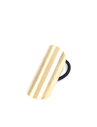 Brushed Gold Tone Bar Hair Tie