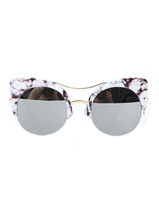 Gold Tone Bridge Cat Eye Sunglasses