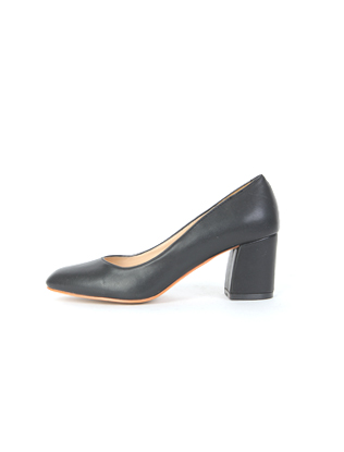 Thick-Heeled Square Toe Pumps