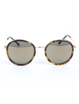 Thin Bridge Retro Round Sunglasses