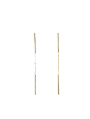 Rod Ends Chain Earrings