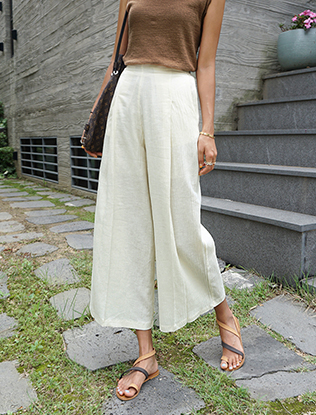 Pleated Crinkled Culottes