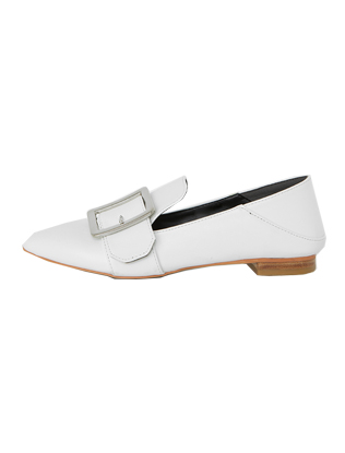 Faux Leather Buckle Shoes