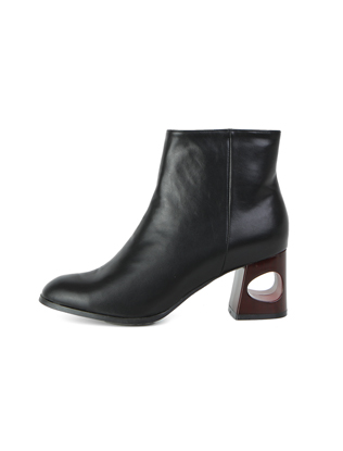 Holed Heels Ankle Boots