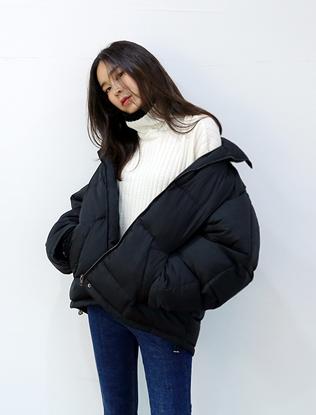 Duck Down Zip Up Puffy Jacket