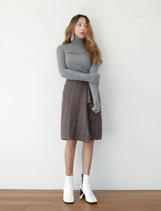 Wrap Check Skirt