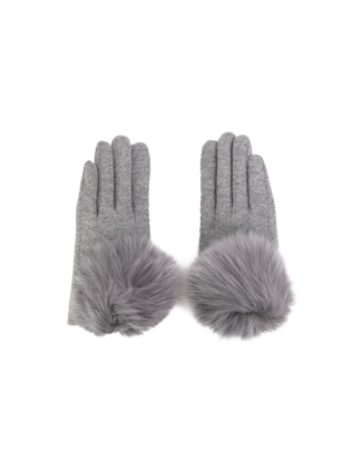 Pompom-Accented Versatile Tone Gloves