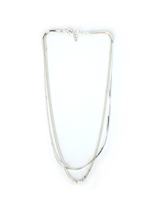 Layered Silver-Tone Necklace