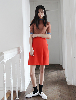 Big Pocket Draped Skirt