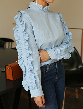 Frill Sleeves Blouse