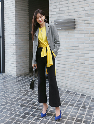 Ankle-Length Boot Cut Pants