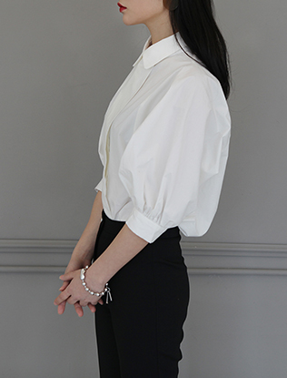 Button Up Half-Sleeved Blouse