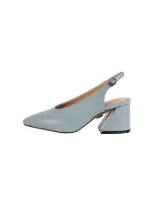 Block-Heeled Slingback Pointed Pumps
