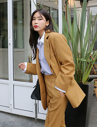 Mustard Three-Button Jacket