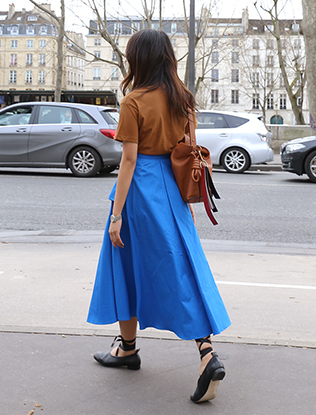 Draped Long Skirt