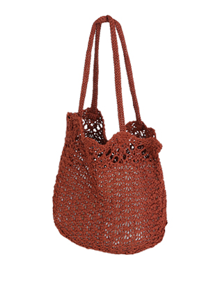Open Top Knit Handbag
