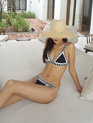 Triangle Cup Knit Two-Piece Bikini