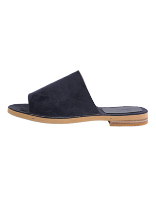 Open-Toed Suede Mules