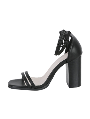 Strappy Block-Heeled Shoes