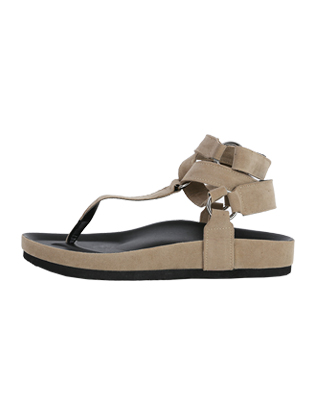 Wraparound Strap Thong Sandals