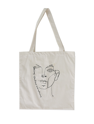 Doodled Canvas Tote Bag
