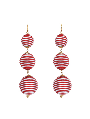 Striped Drop Earrings