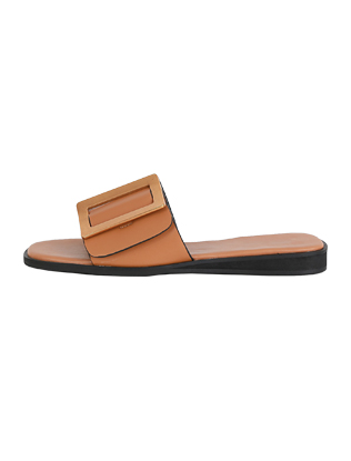 Basic Buckled Slide Sandals
