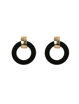 Mod Gold-Tone Hoop Earrings