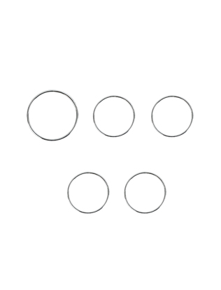 Five-Piece Simple Ring Set