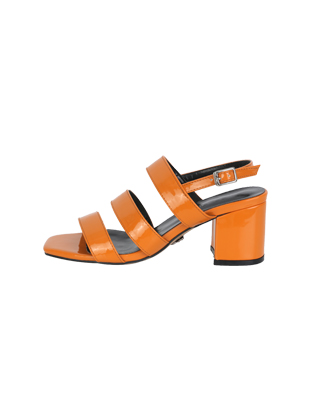Three-Strap Block-Heeled Sandals