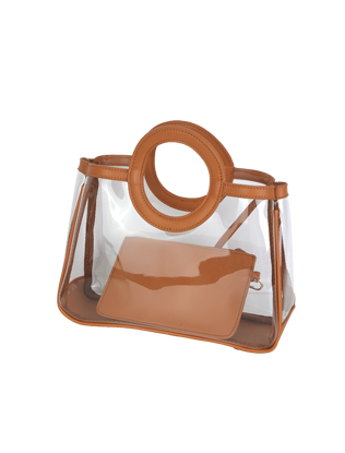 Clear Round Handle Handbag