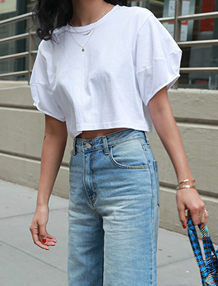 Cropped Short-Sleeved Tee